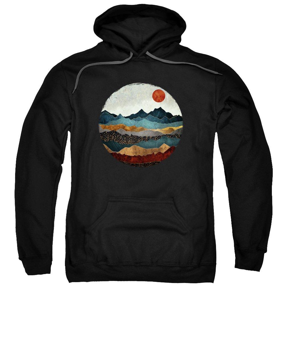 Amber Sweatshirt featuring the digital art Amber Dusk by Spacefrog Designs