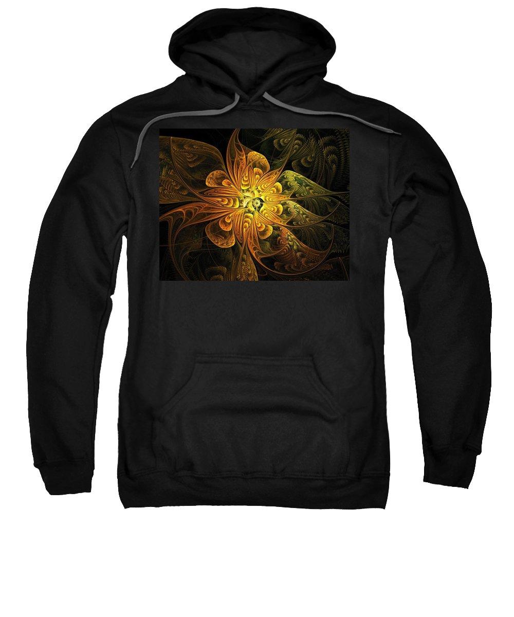 Digital Art Sweatshirt featuring the digital art Amber Light by Amanda Moore