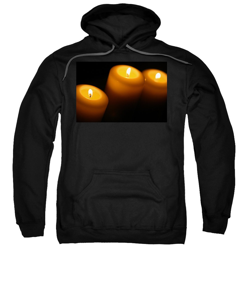 Candle Sweatshirt featuring the photograph Ambiance by Angela Rath