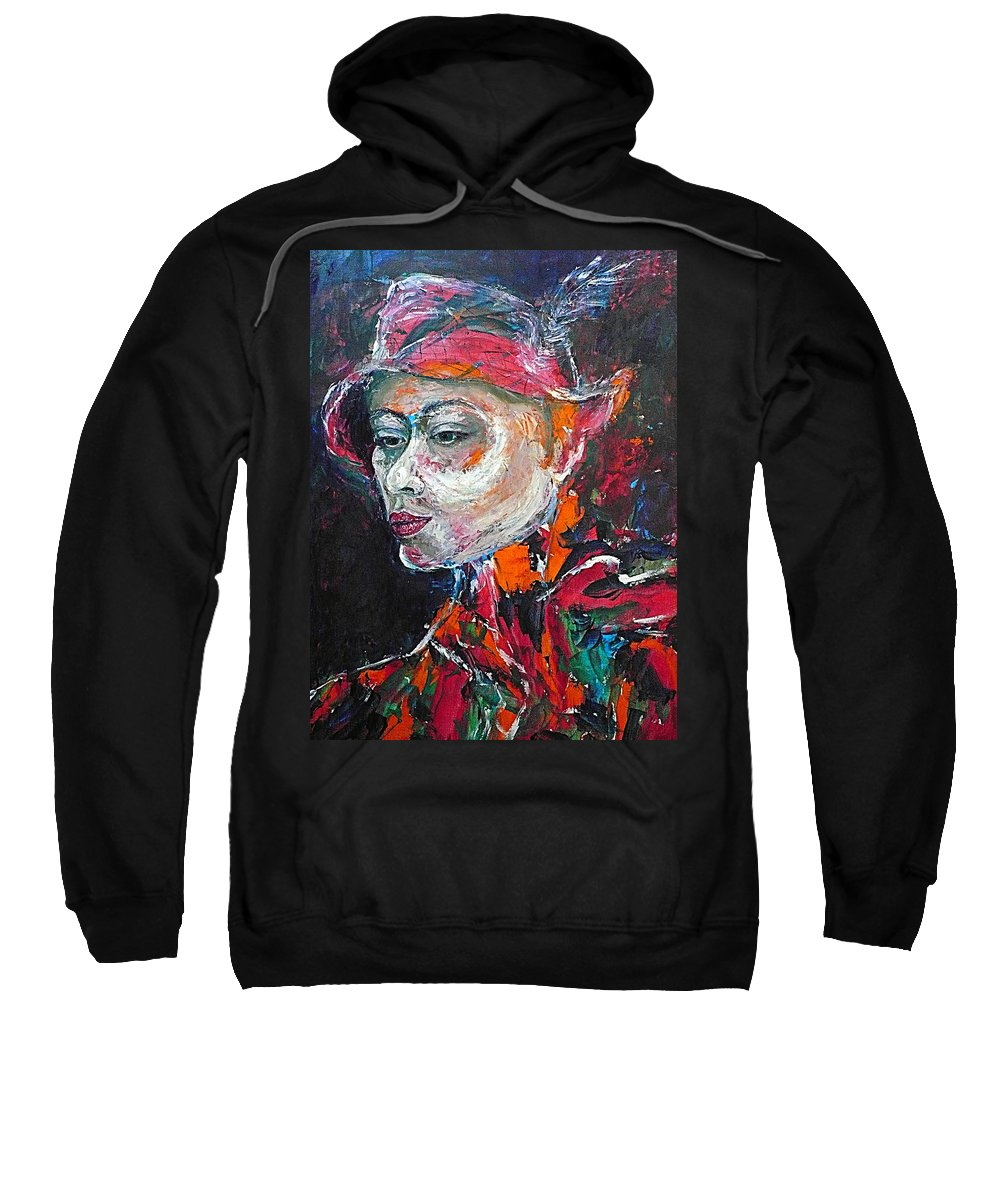 Portrait Sweatshirt featuring the painting Ambiguity by Ericka Herazo