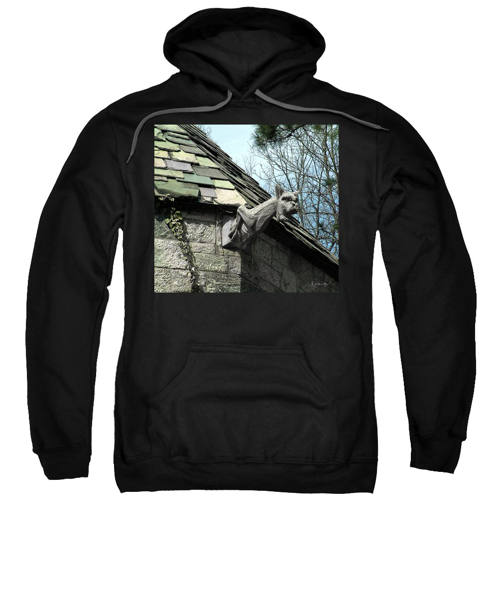 Architecture Sweatshirt featuring the photograph American Gargoyle by RC DeWinter