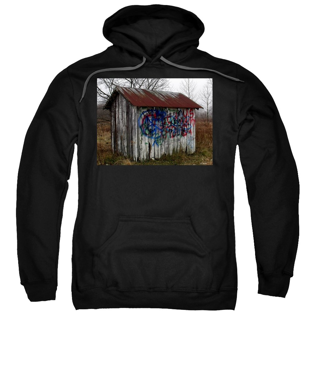 American Sweatshirt featuring the photograph American Graffiti 4  Zig Zag Man by Ed Smith