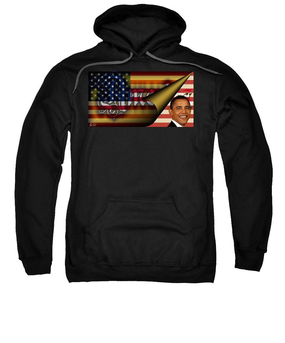 America Sweatshirt featuring the digital art Americas New Design 2009 by Helmut Rottler