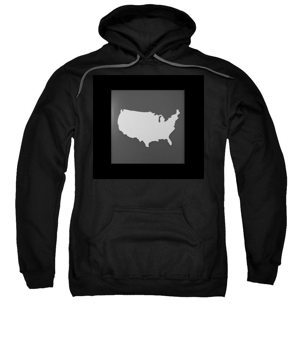 Black And White Sweatshirt featuring the photograph Amerika by Rob Hans