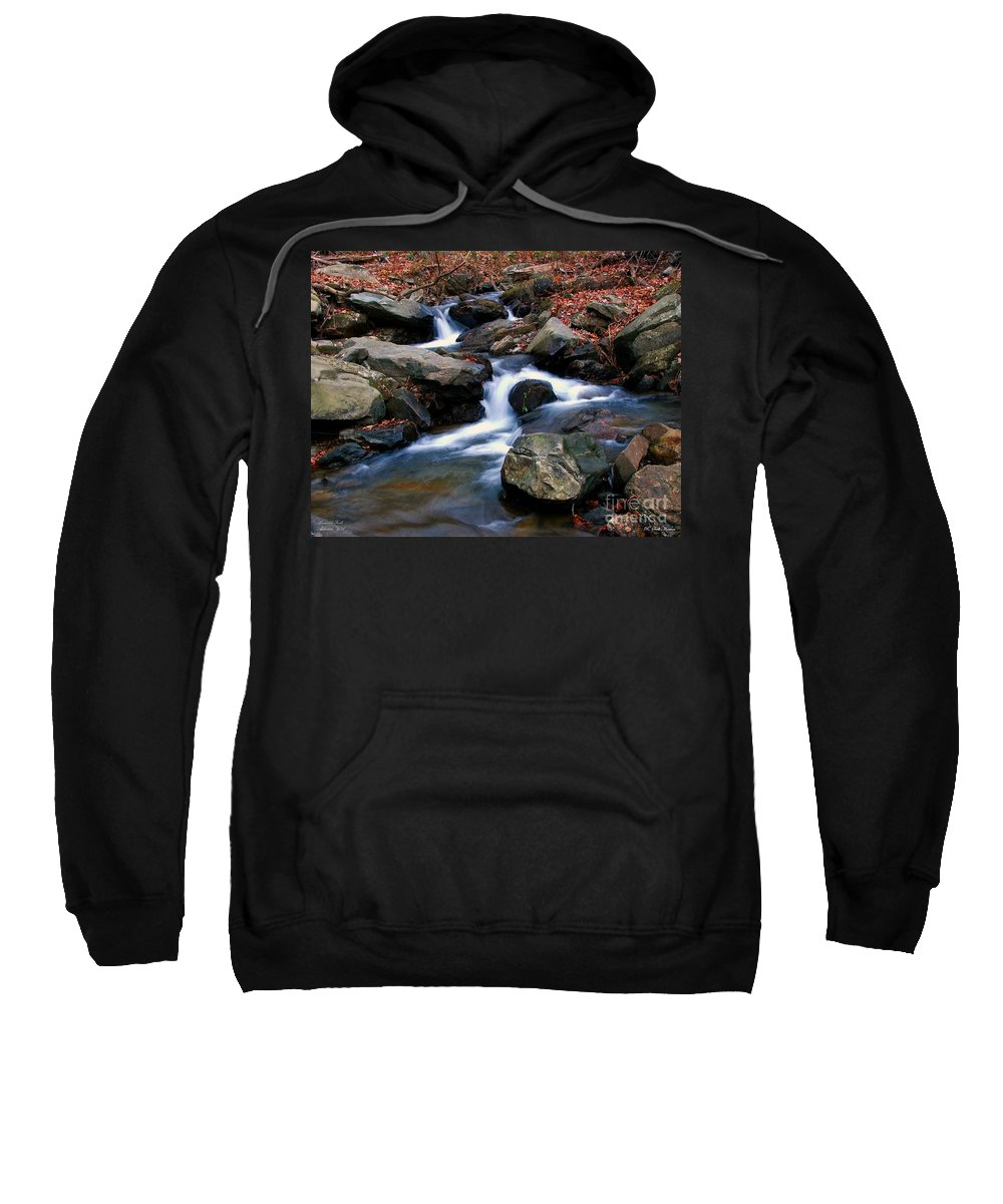 Water Sweatshirt featuring the photograph Amicalola Stream by Robert Meanor