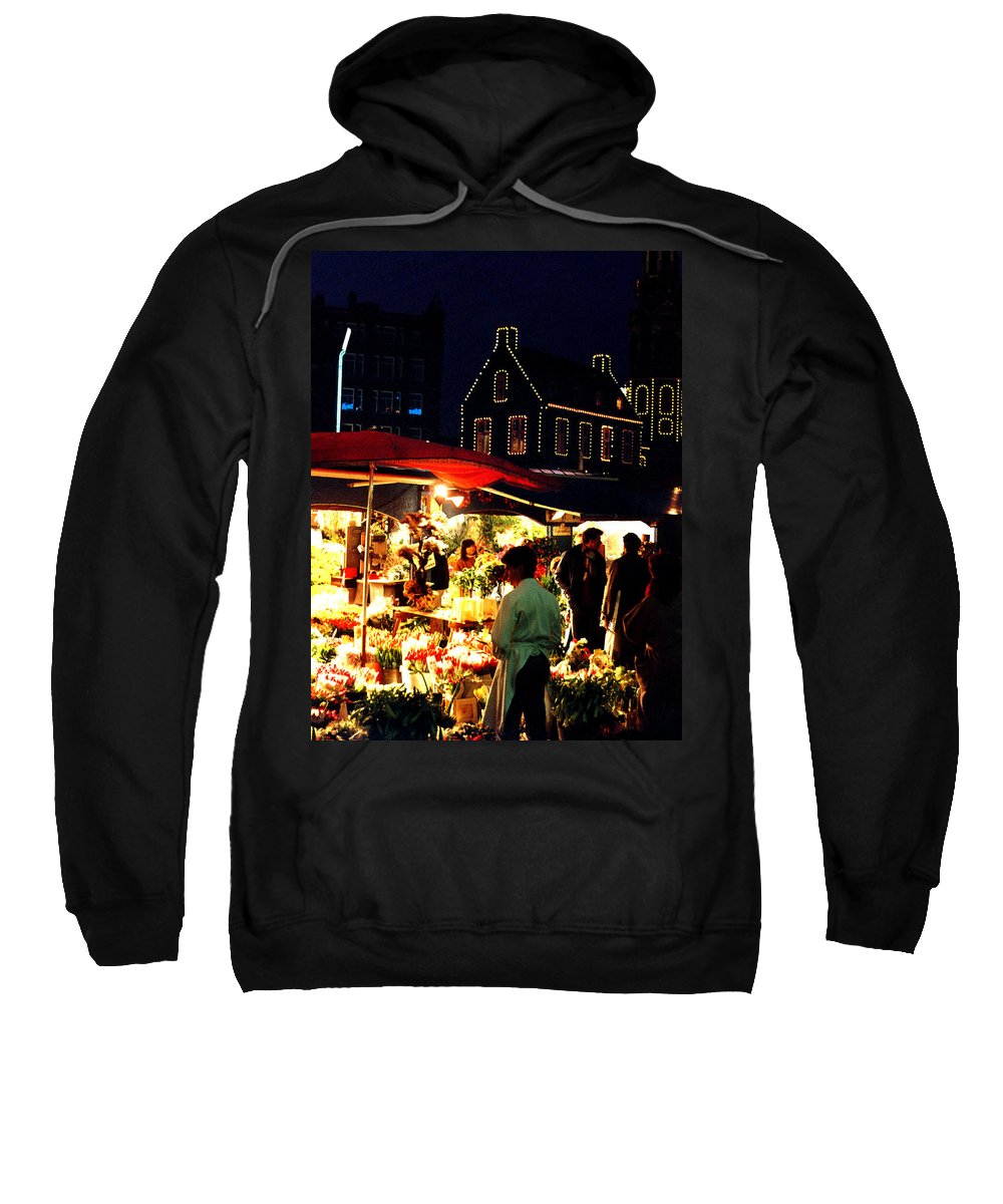Flowers Sweatshirt featuring the photograph Amsterdam Flower Market by Nancy Mueller