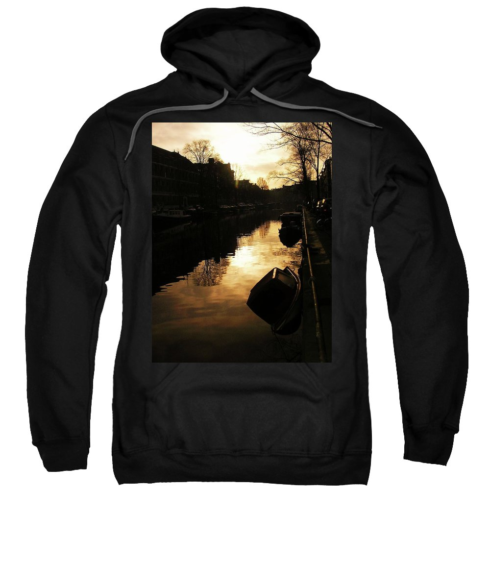 Landscape Sweatshirt featuring the photograph Amsterdam Netherlands by Louise Macarthur Art and Photography