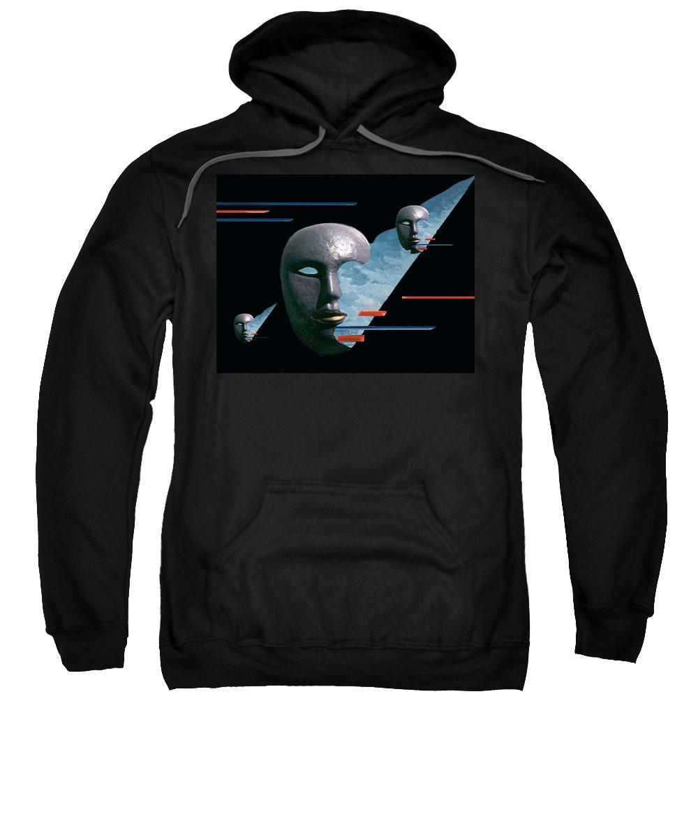 Surreal Sweatshirt featuring the digital art An Androids Dream by Steve Karol