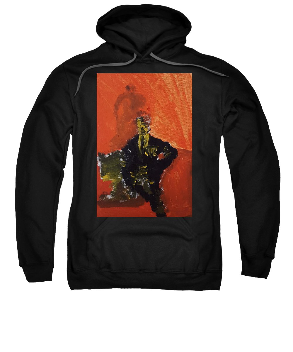 Man Sweatshirt featuring the painting An Isolated Commander by Richard Vincent