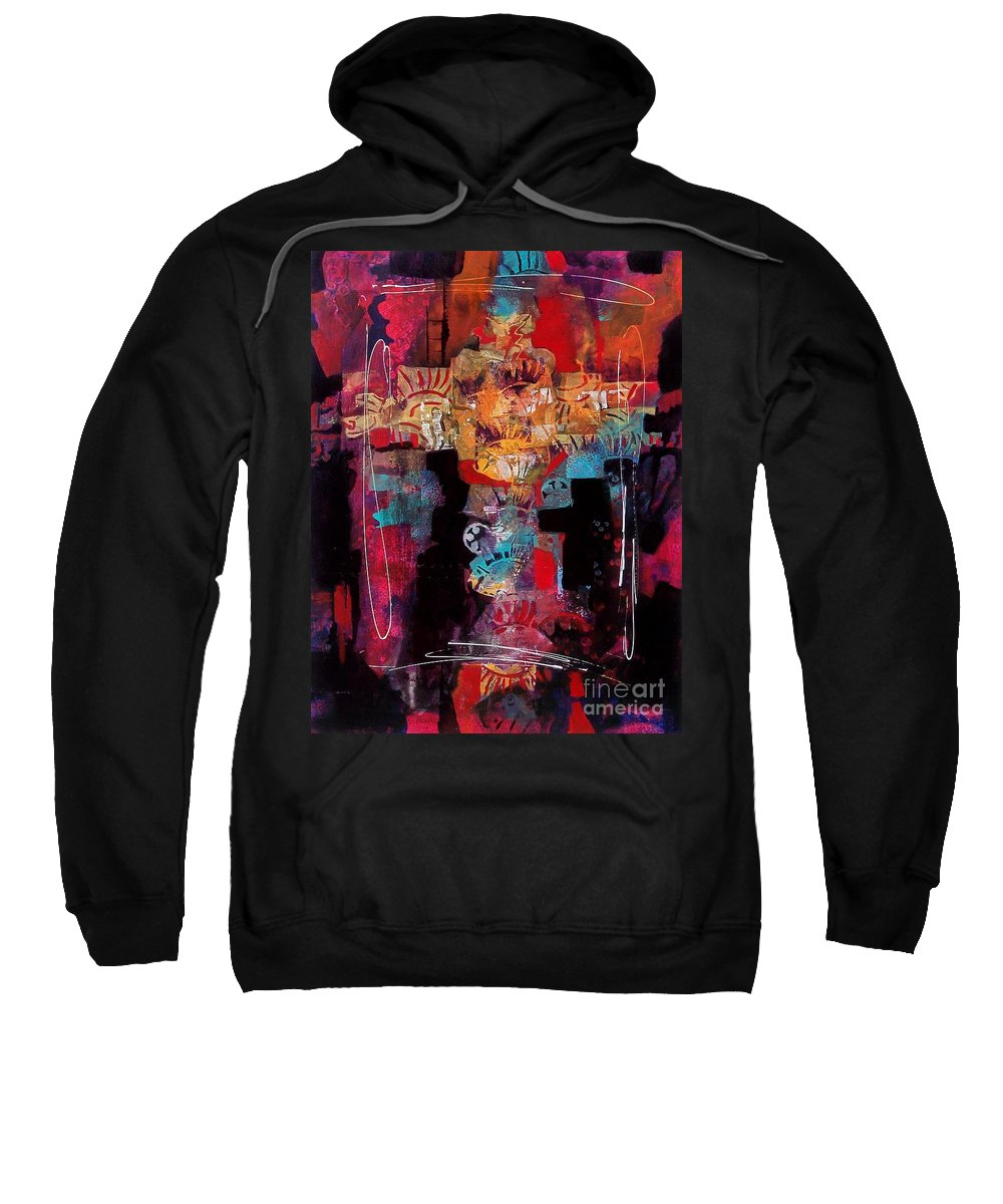 Abstract Sweatshirt featuring the painting Anasazi Serenade 003 by Donna Frost