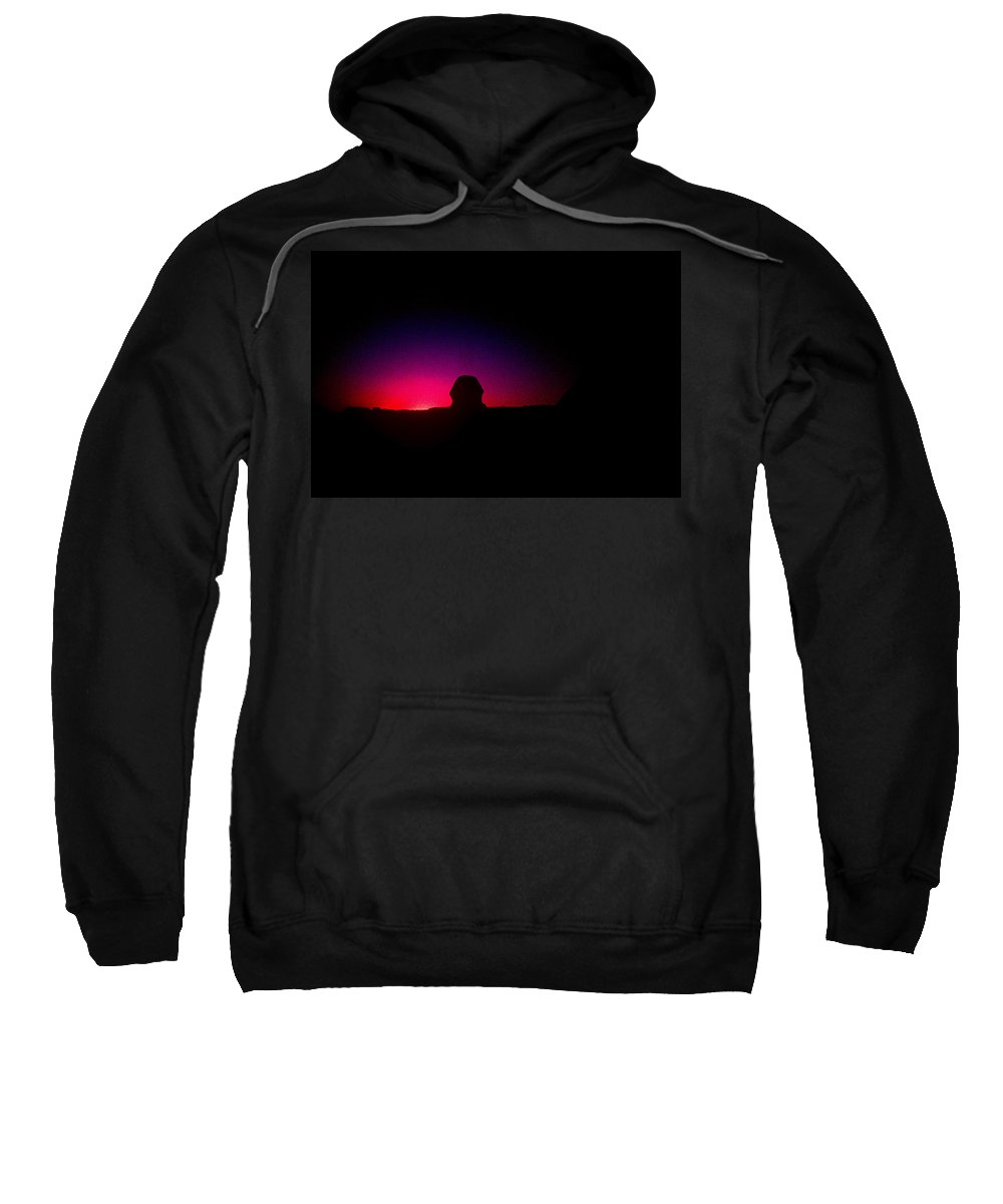 Sphinx Sweatshirt featuring the photograph Ancient Evenings by Gary Wonning