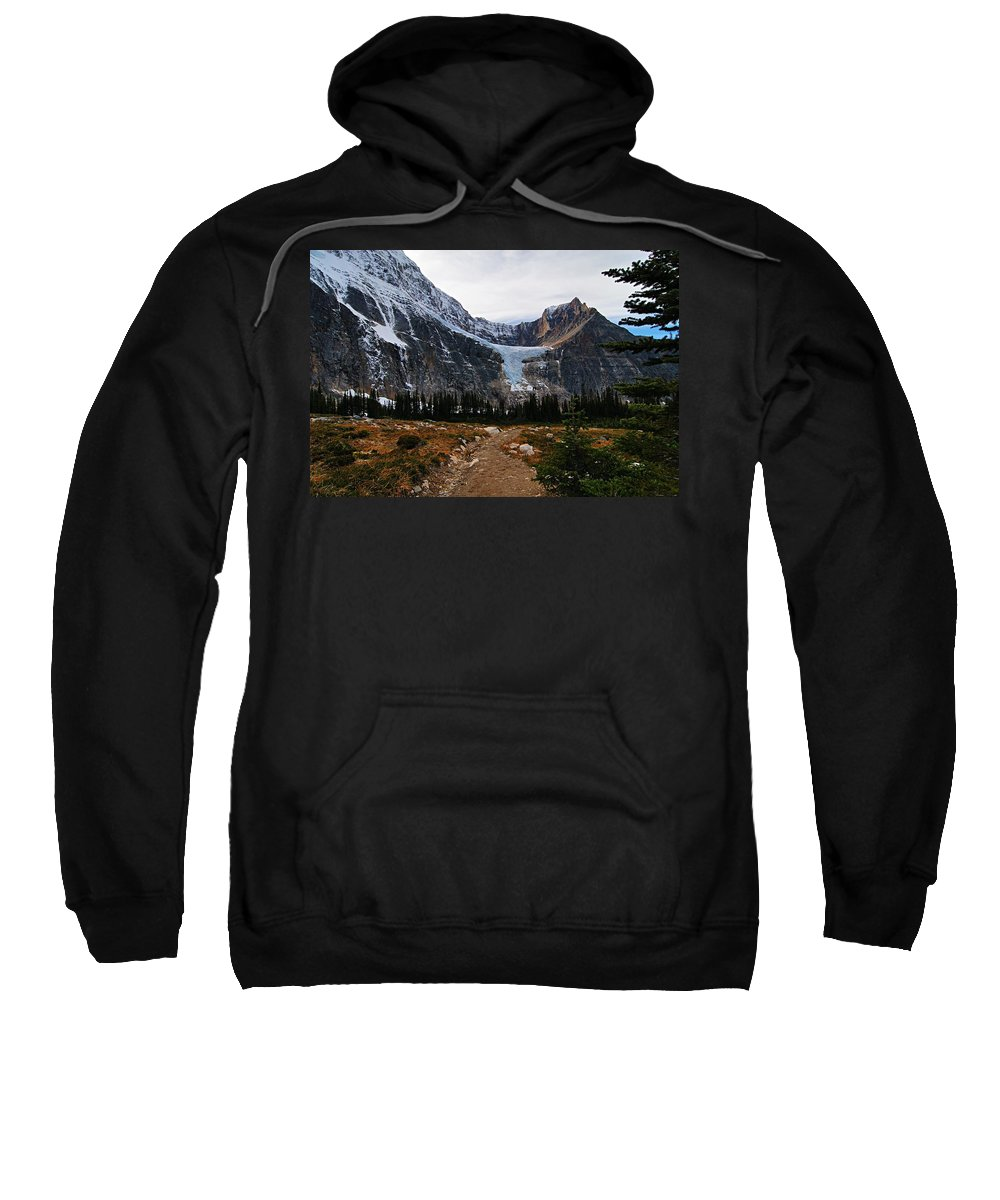 Angel Glacier Sweatshirt featuring the photograph Angel Glacier by Larry Ricker