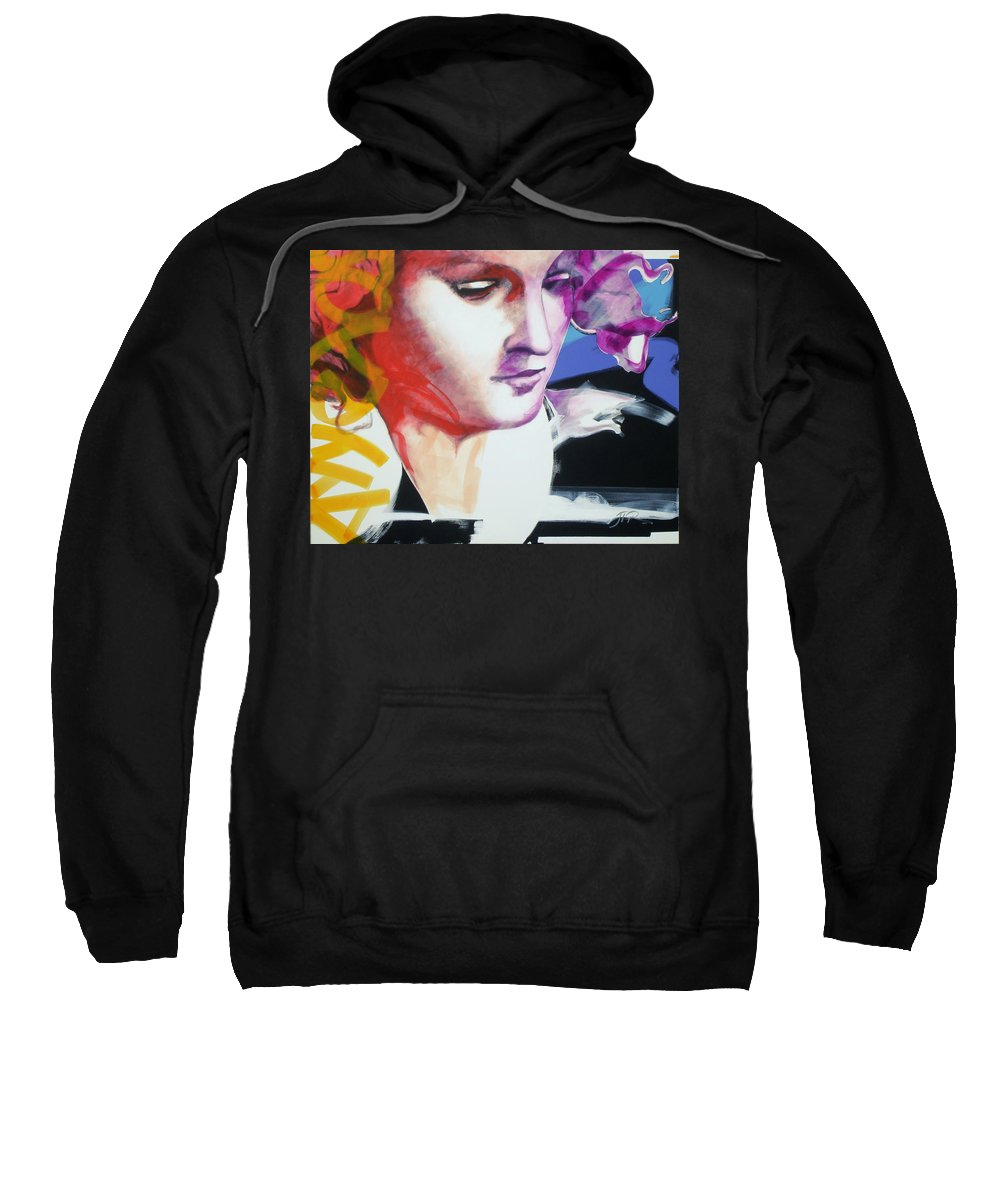 Pop Sweatshirt featuring the painting Angel by Jean Pierre Rousselet