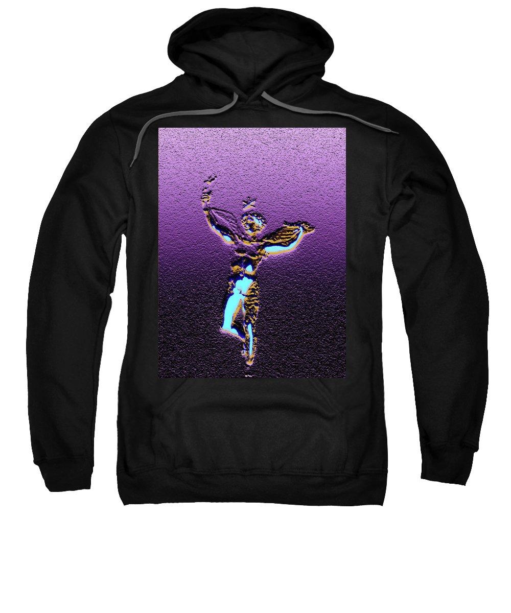 Angel Sweatshirt featuring the digital art Angel by Marc Dettloff