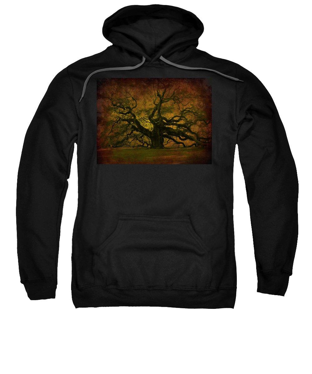 Angel Oak Sweatshirt featuring the photograph Angel Oak 3 Charleston by Susanne Van Hulst