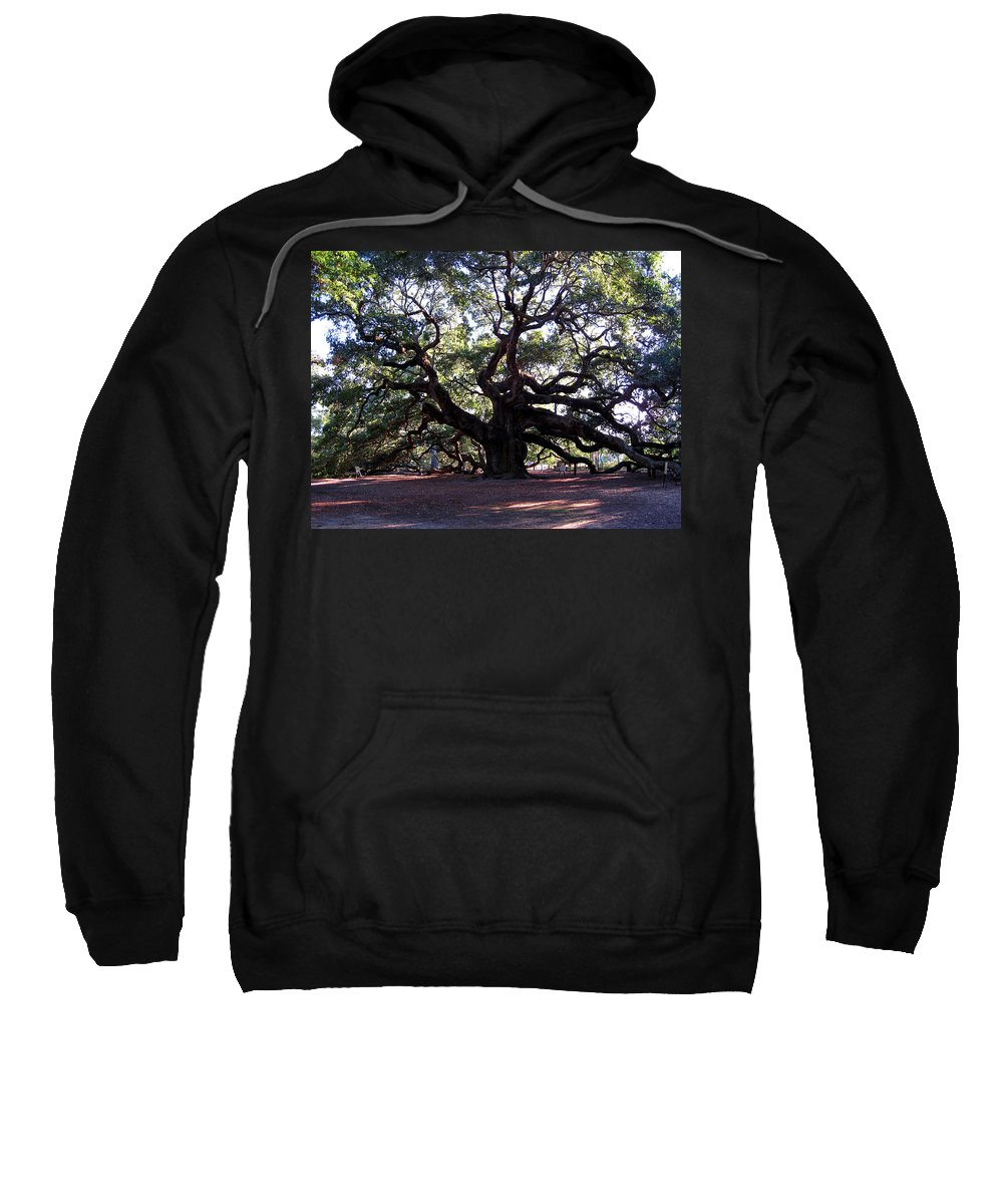 Photography Sweatshirt featuring the photograph Angel Oak II by Susanne Van Hulst