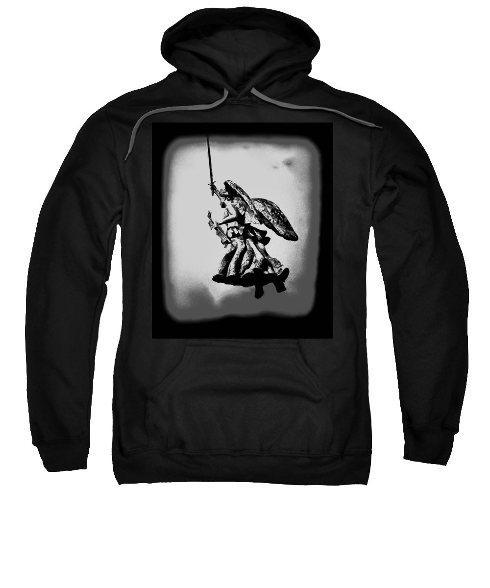 Angel Sweatshirt featuring the photograph Angel Of Gettysburg by Bill Cannon