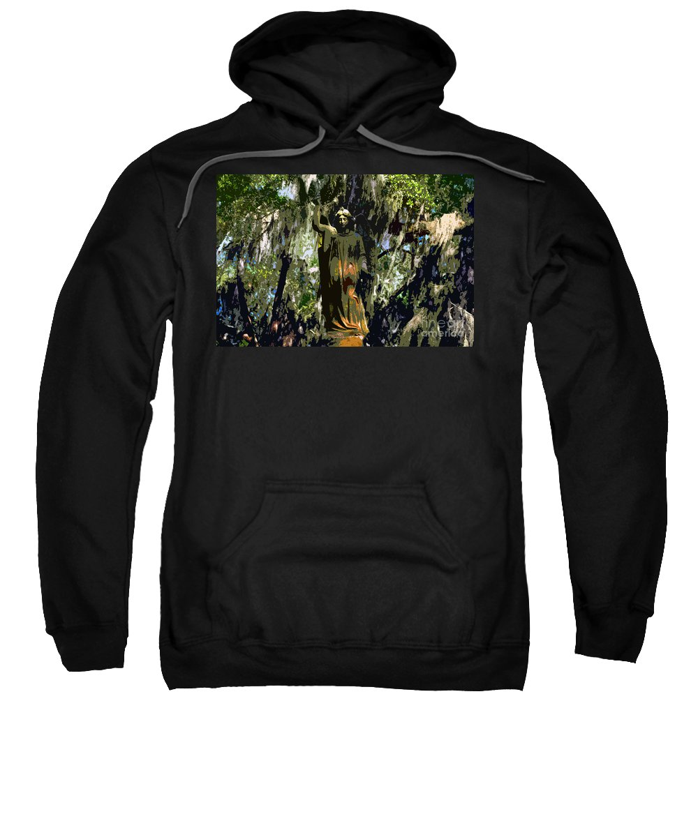 Angel Sweatshirt featuring the painting Angel Of Savannah by David Lee Thompson