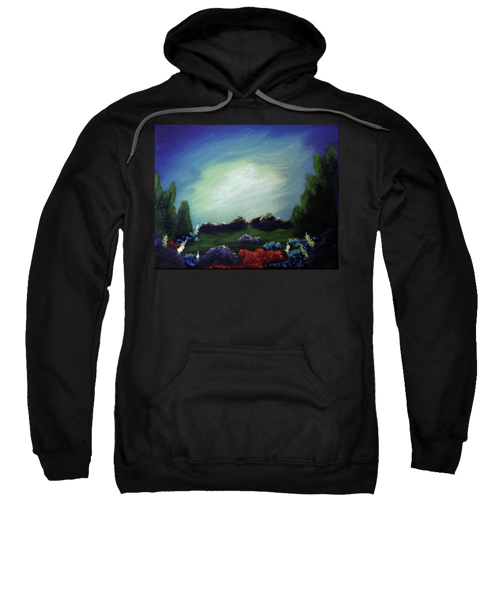 Angel Sweatshirt featuring the painting Angel On The Rocks by Dawn Blair
