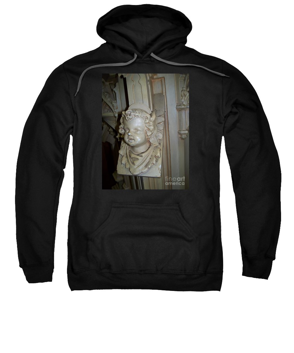 Angel With The Chipped Nose Sweatshirt featuring the photograph Angel With The Chipped Nose by Seaux-N-Seau Soileau