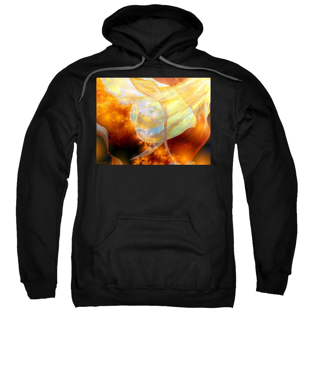 Abstract Sweatshirt featuring the digital art Angels Among Us by Claire Bull
