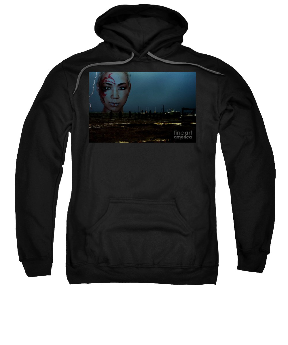 Clay Sweatshirt featuring the photograph Angry Sea by Clayton Bruster