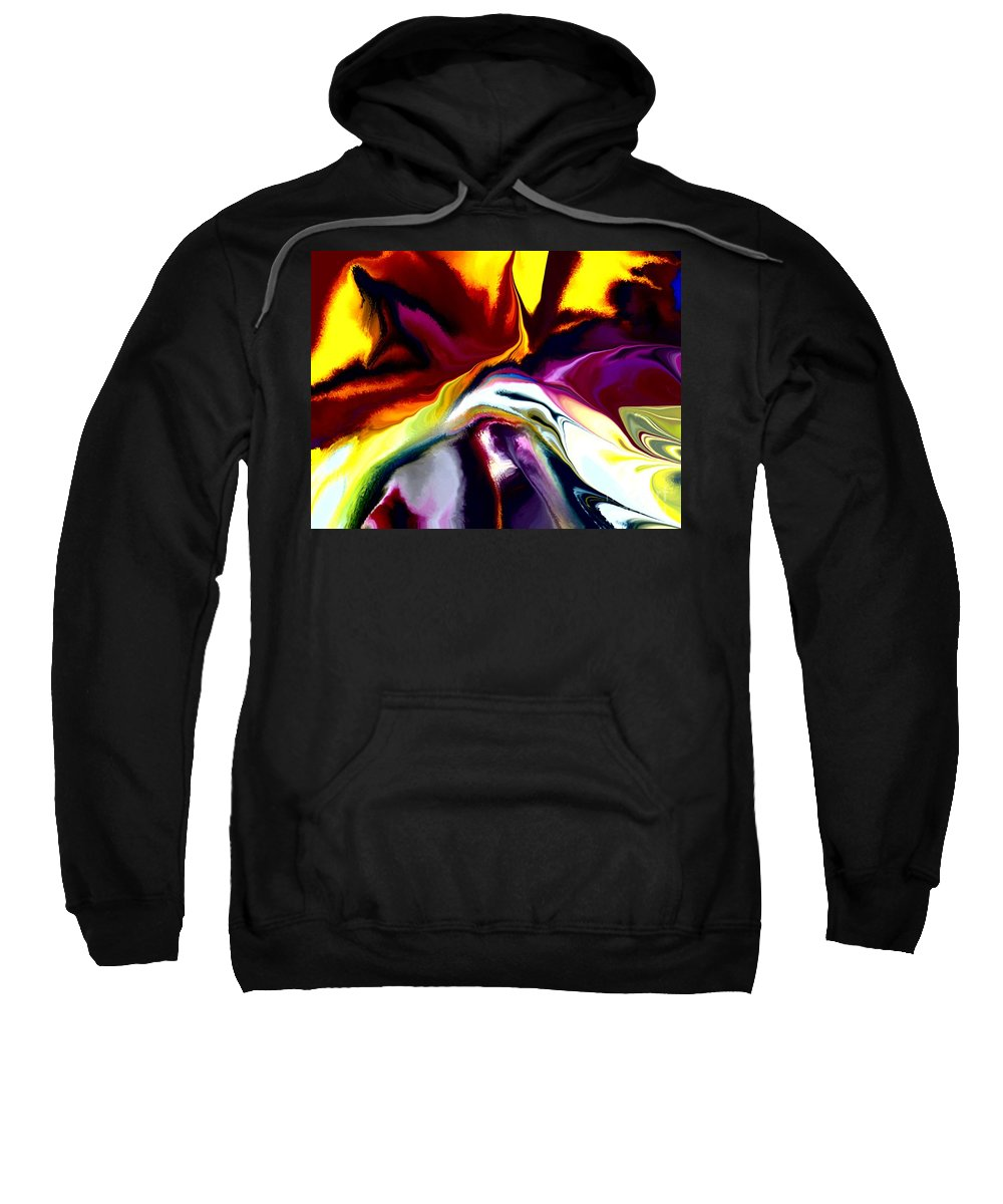 Abstract Sweatshirt featuring the digital art Angst by David Lane
