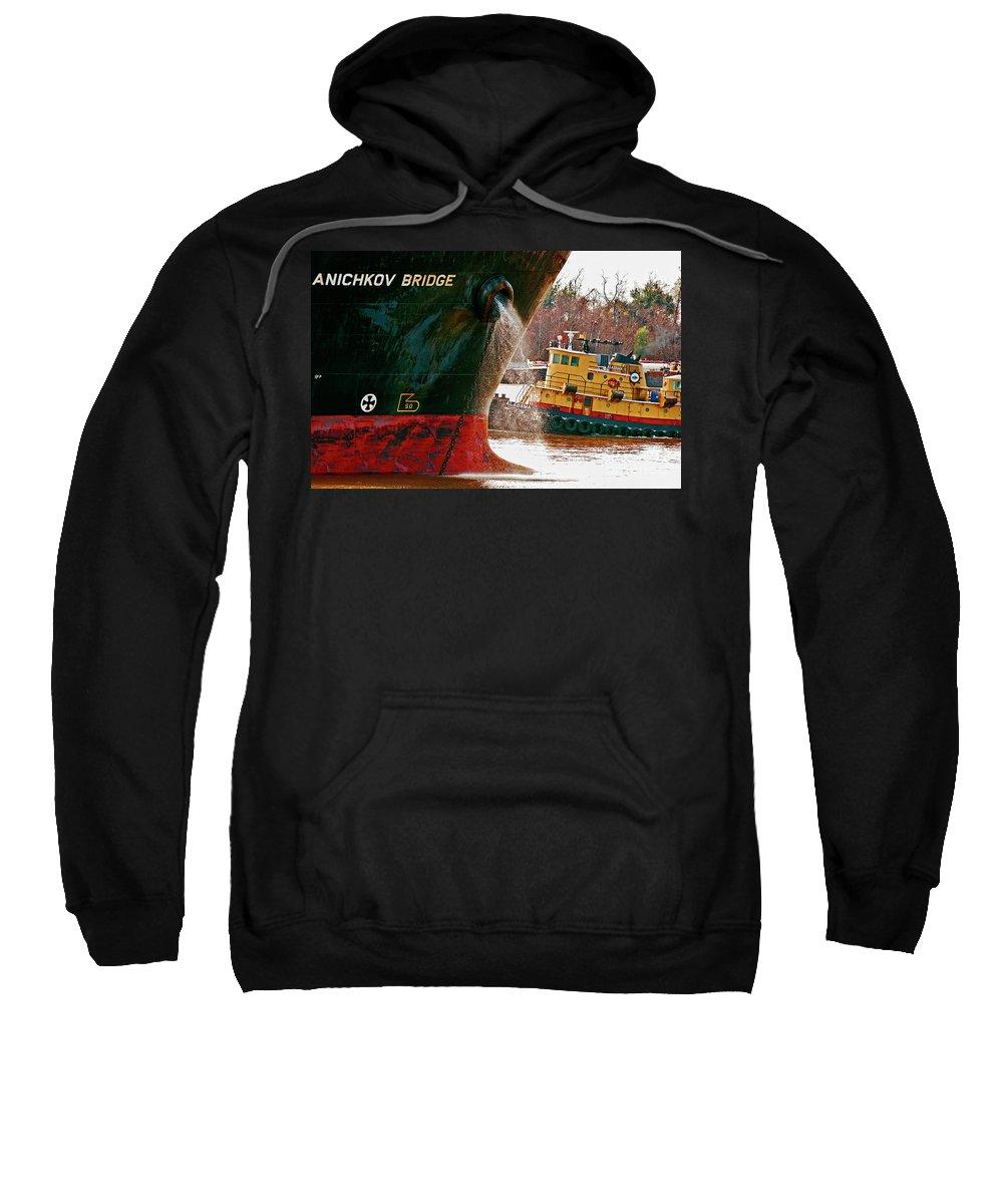 Ship Sweatshirt featuring the photograph Anichkov Bridge by Kathleen K Parker