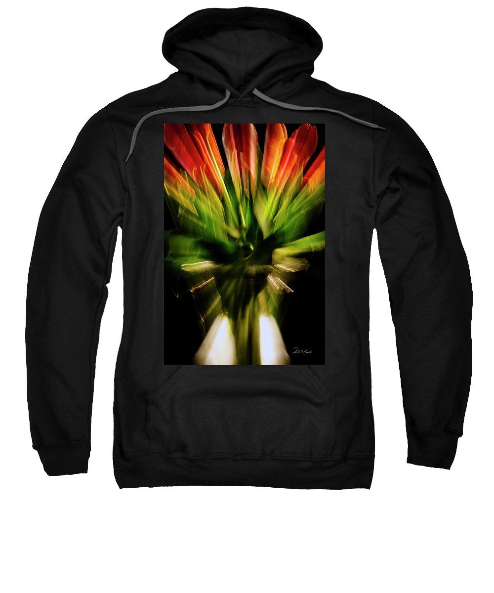 Photography Sweatshirt featuring the photograph Another Tulip Explosion by Frederic A Reinecke