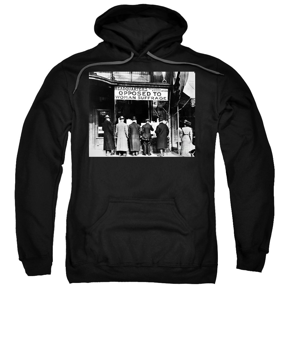 1910 Sweatshirt featuring the photograph Anti-suffrage Association by Granger