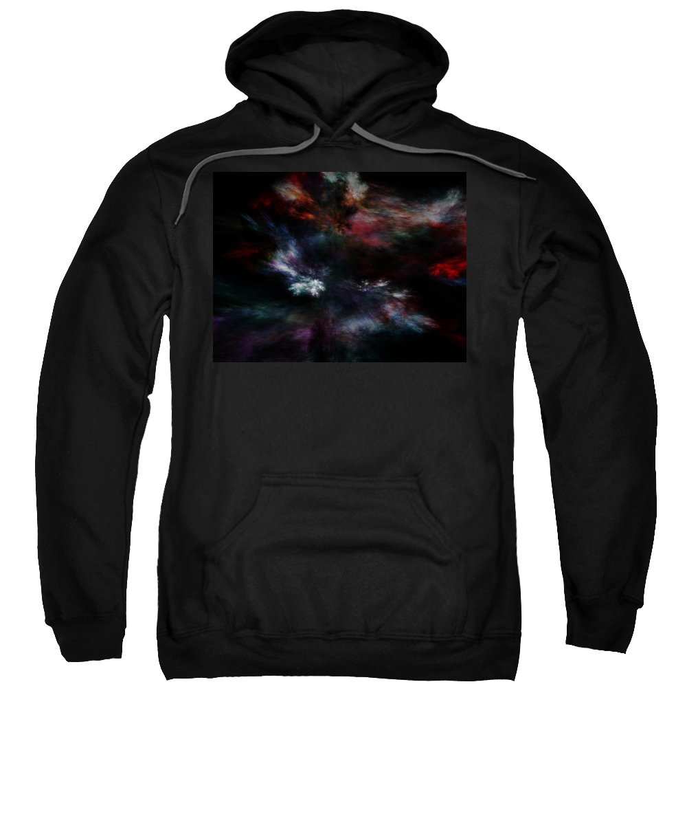 Abstract Digital Painting Sweatshirt featuring the digital art Apocalyptical Dawn by David Lane