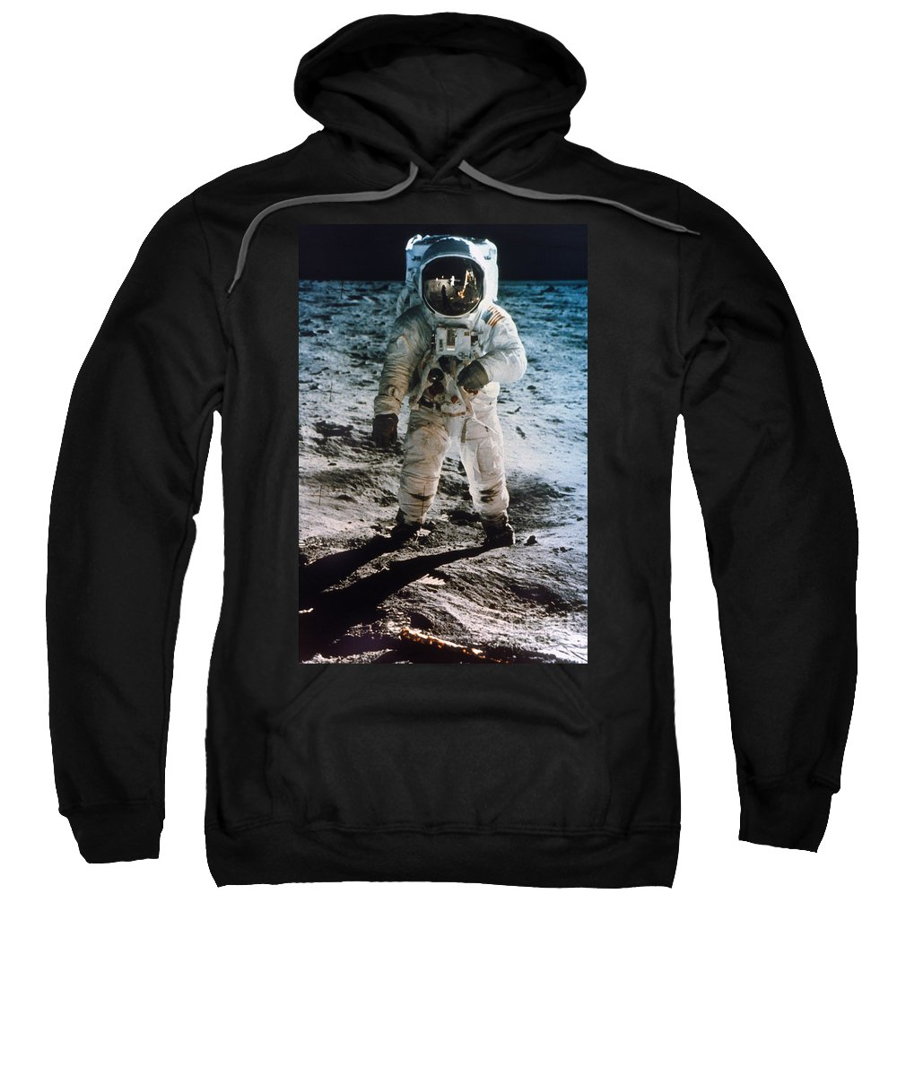 1969 Sweatshirt featuring the photograph Apollo 11 Buzz Aldrin by Granger