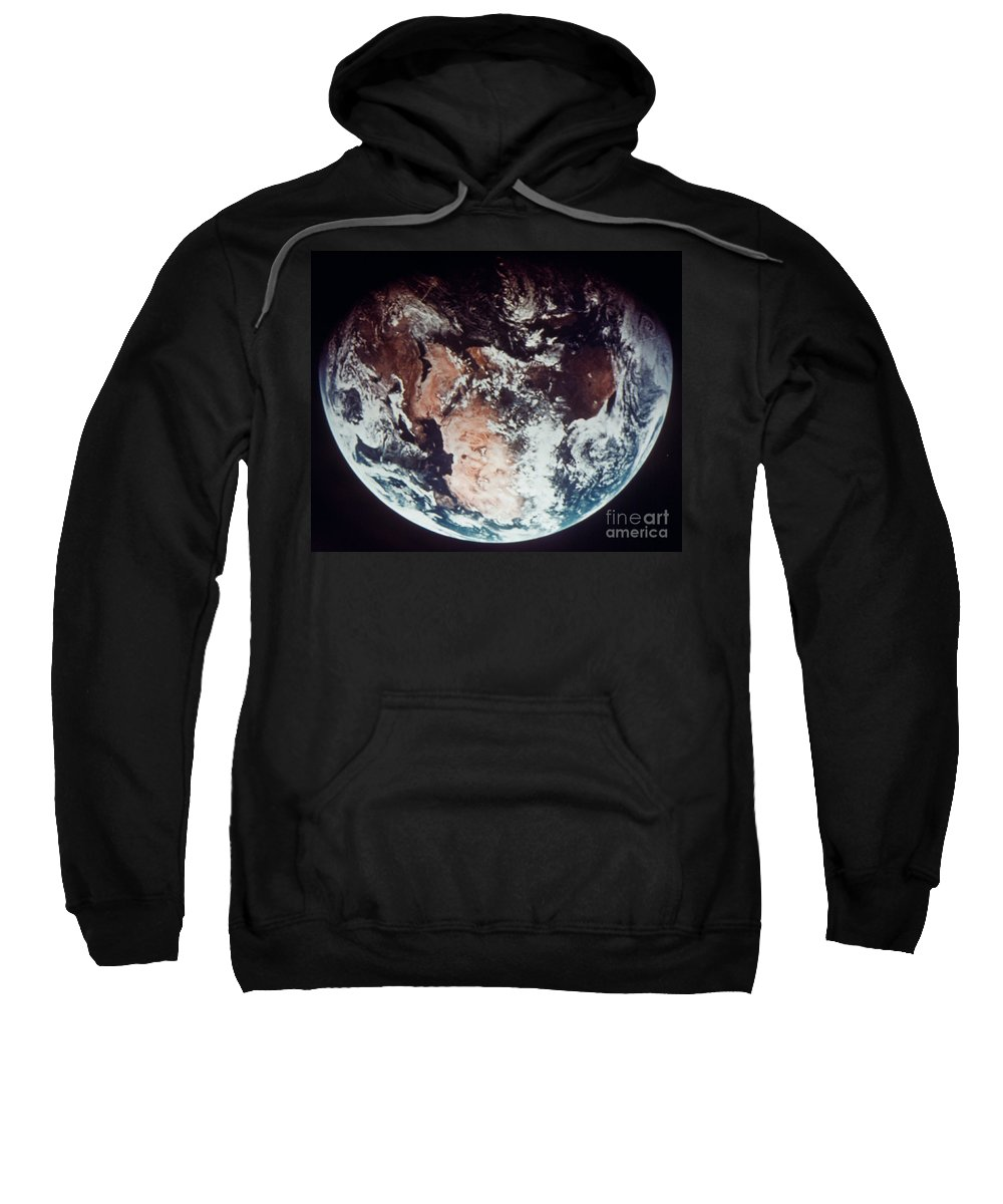 1970s Sweatshirt featuring the photograph Apollo 11: Earth by Granger