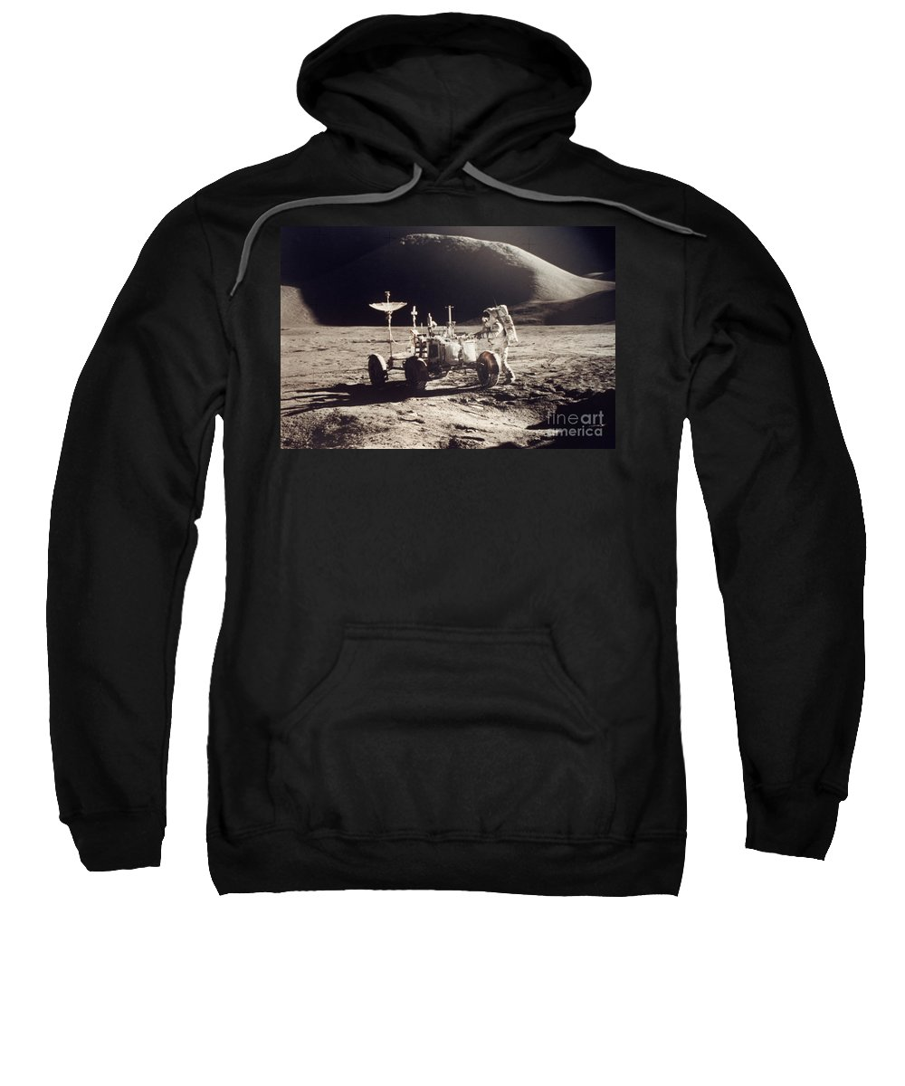 1971 Sweatshirt featuring the photograph Apollo 15, 1971 by Granger