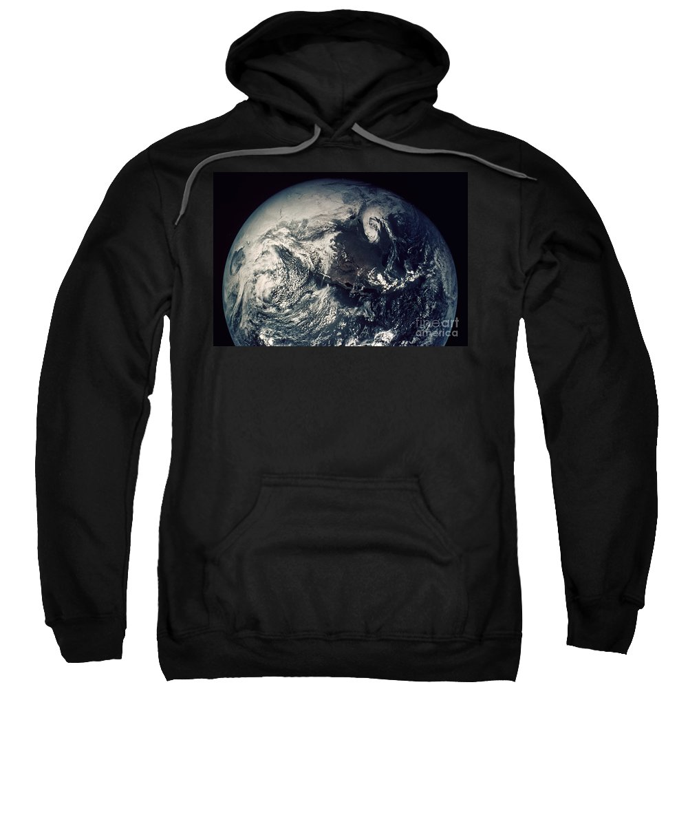 1970s Sweatshirt featuring the photograph Apollo 16: Earth by Granger