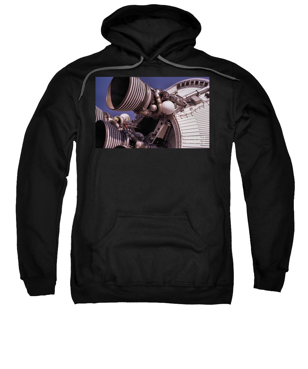 Technology Sweatshirt featuring the photograph Apollo Rocket Engine by Richard Rizzo