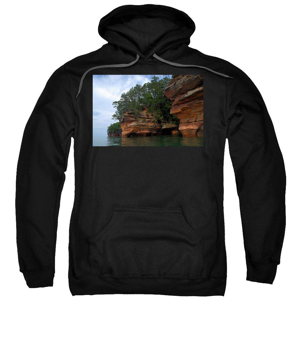 Apostle Islands National Lakeshore Sweatshirt featuring the photograph Apostle Islands National Lakeshore by Larry Ricker