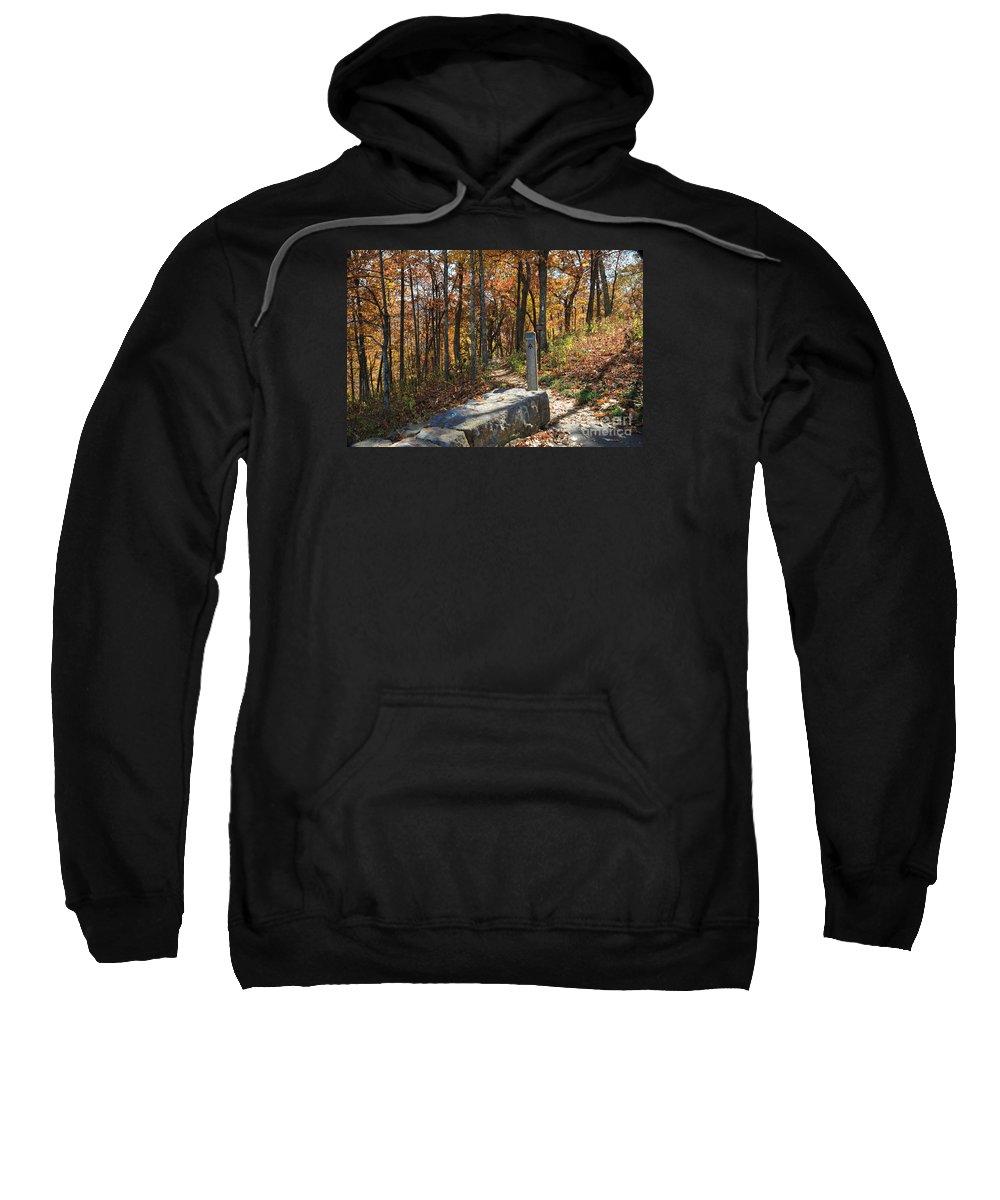 Appalachian Trail Sweatshirt featuring the photograph Appalachian Trail In Shenandoah National Park by Louise Heusinkveld