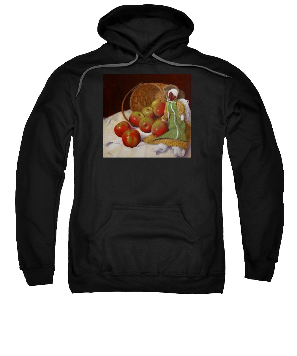 Realism Sweatshirt featuring the painting Apple Annie by Donelli DiMaria