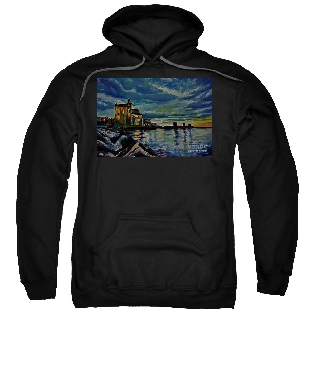 Castle Sweatshirt featuring the painting Approaching Nightfall by Manju Chau