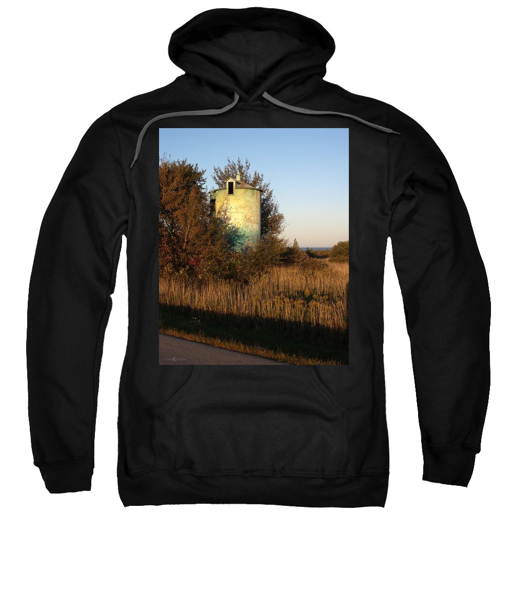 Silo Sweatshirt featuring the photograph Aqua Silo by Tim Nyberg