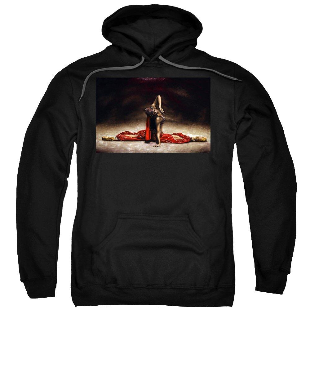 Ballerina Sweatshirt featuring the painting Arabian Coffee by Richard Young