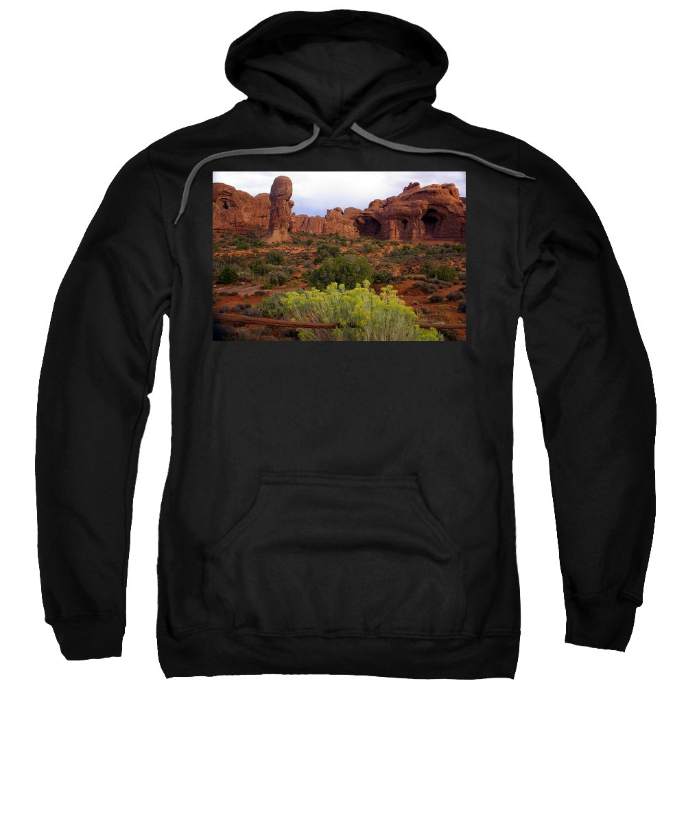 Southwest Art Sweatshirt featuring the photograph Arches Park 1 by Marty Koch