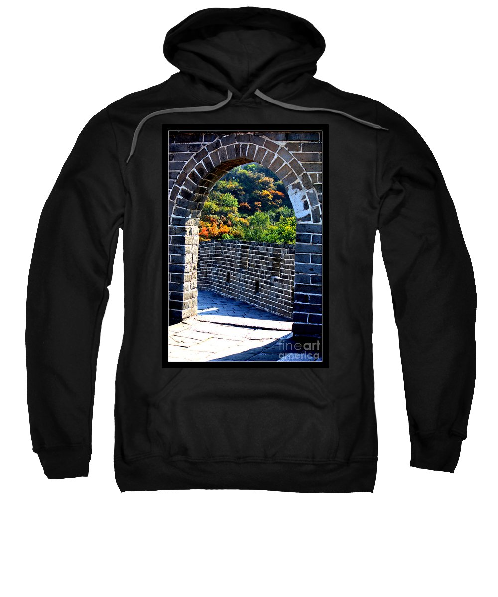 The Great Wall Of China Sweatshirt featuring the photograph Archway To Great Wall by Carol Groenen