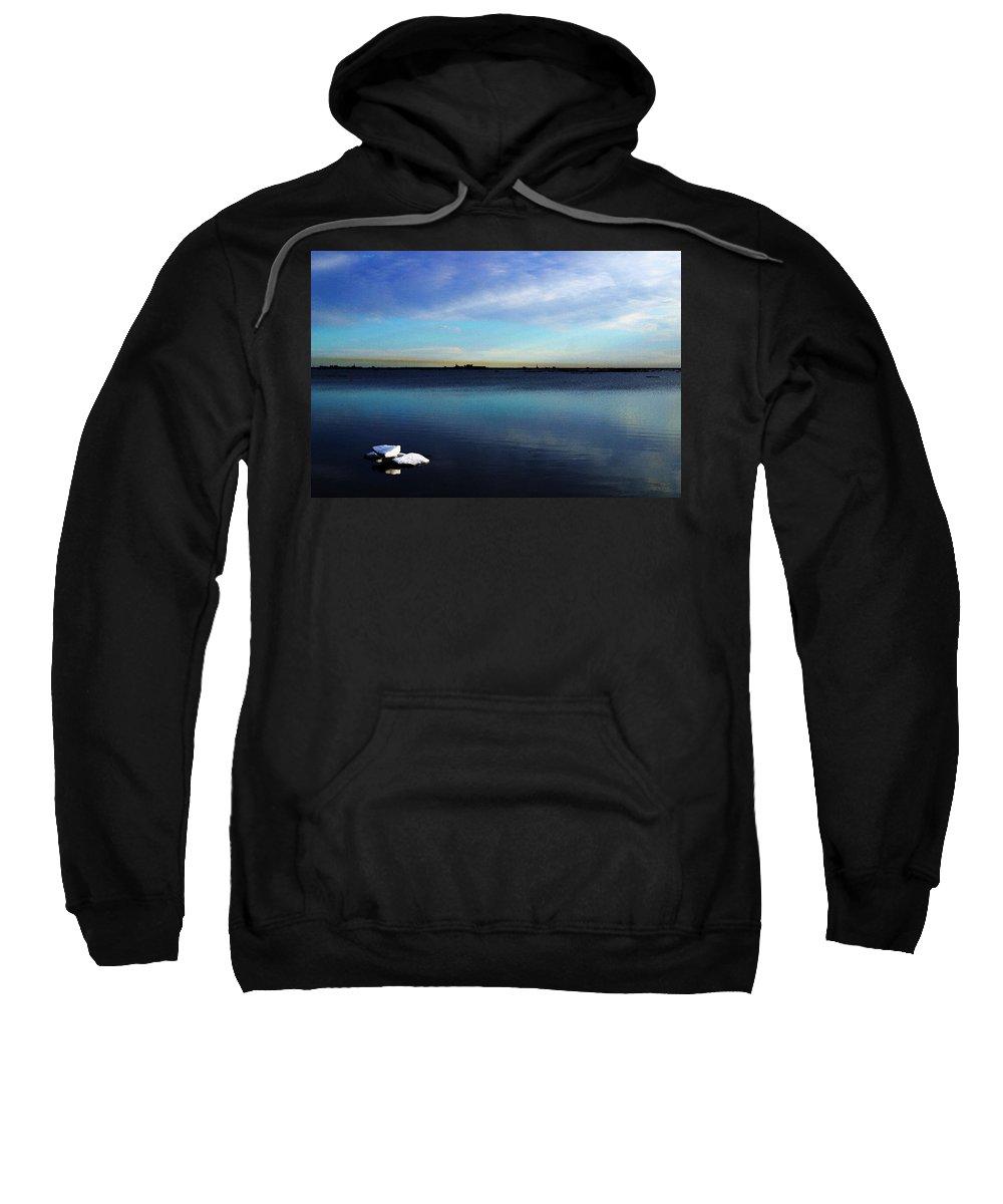 Digital Art Sweatshirt featuring the digital art Arctic Ice by Anthony Jones