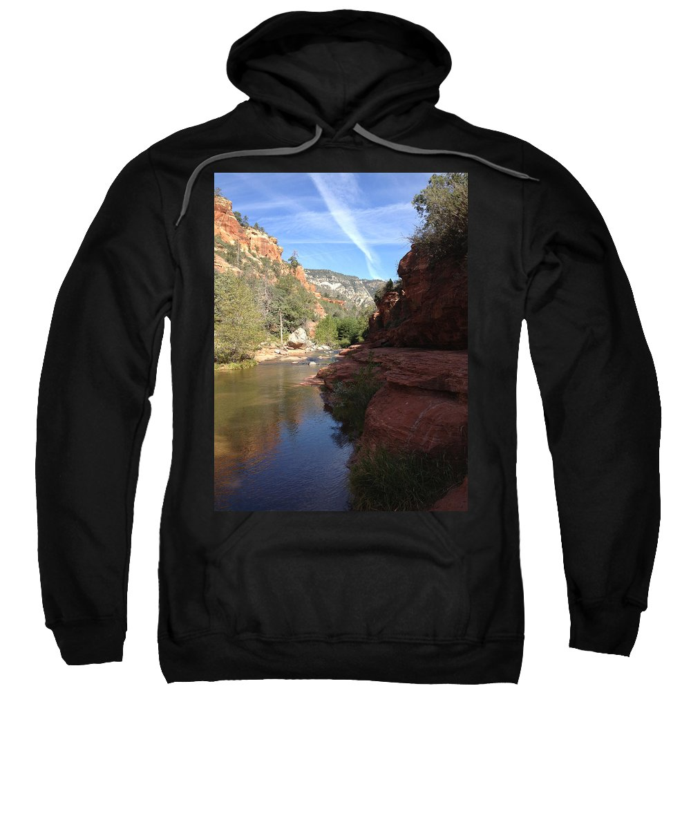 Arizona Sweatshirt featuring the photograph Arizona Canyon Sky Two by Christine Oleson