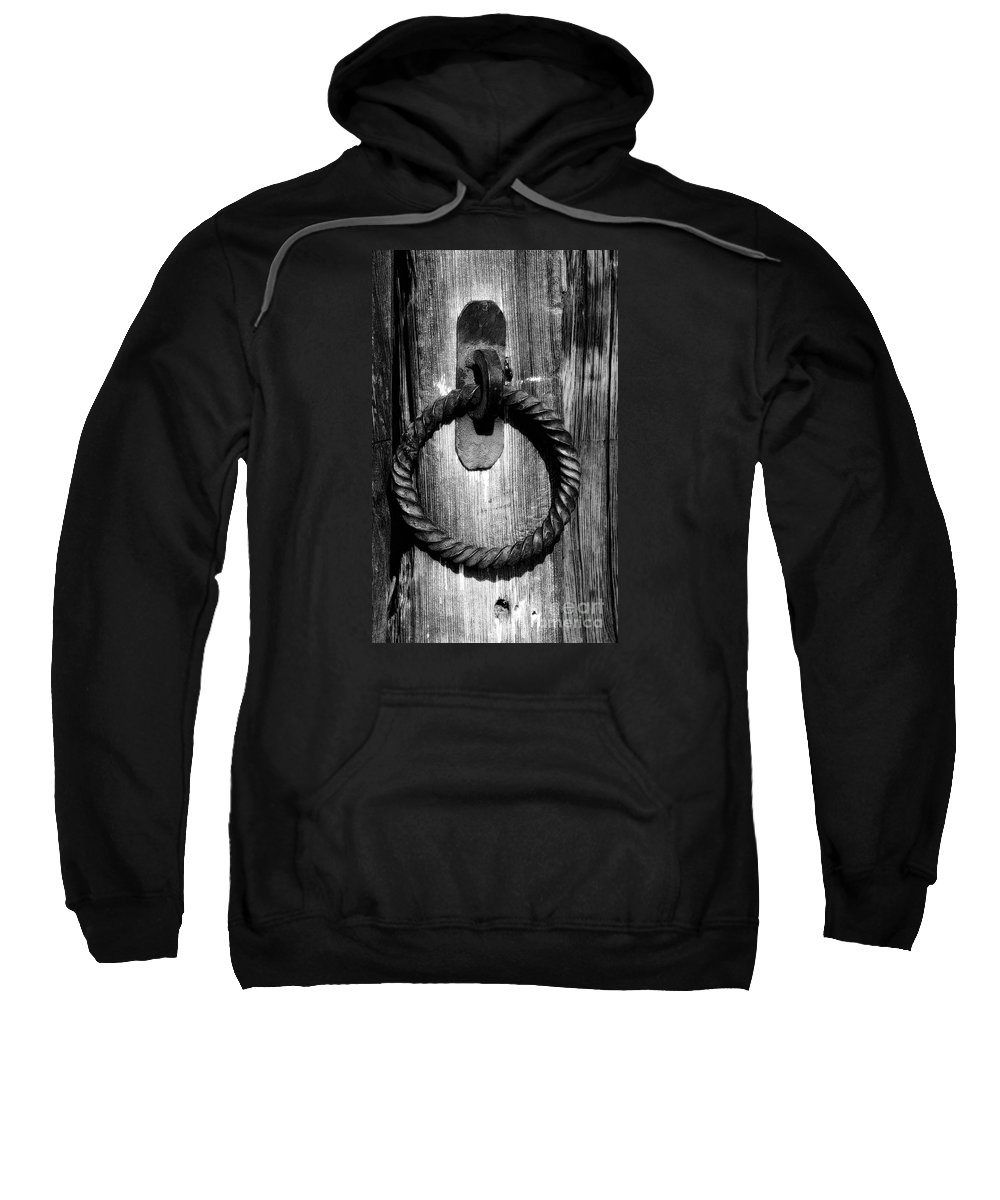 Old Sweatshirt featuring the photograph Arizona Ironwork by Penny Haviland