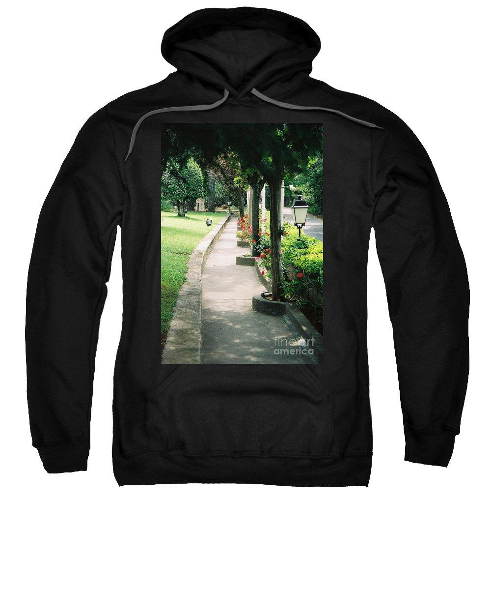 Arles Sweatshirt featuring the photograph Arles Walkway by Nadine Rippelmeyer