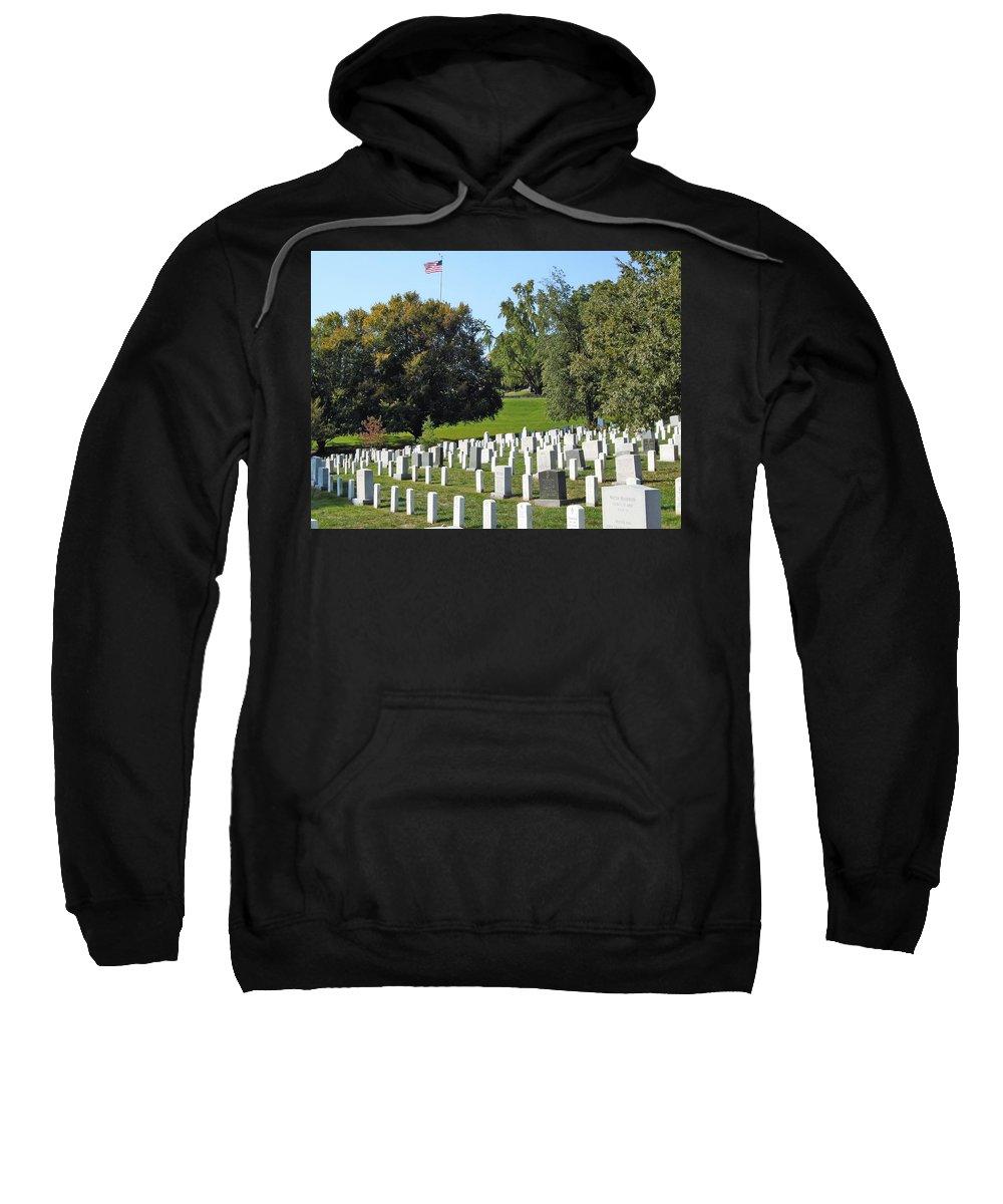 Arlington National Cemetary Sweatshirt featuring the photograph Arlington National Cemetery by Anthony Schafer