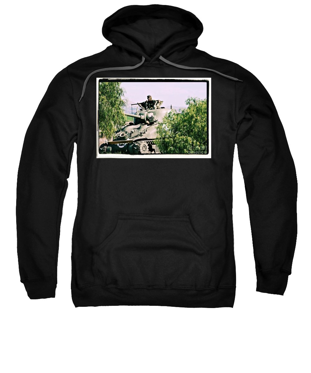 Tank Sweatshirt featuring the photograph Armor Support by Tommy Anderson